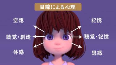 【表情アニメーション】目線による心理表現